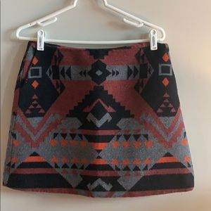Gap Mini Whool Aztec Skirt